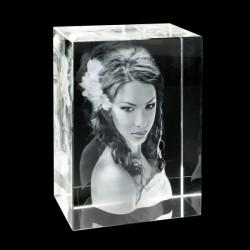 Photo gravée dans un bloc de verre en 3D XXL