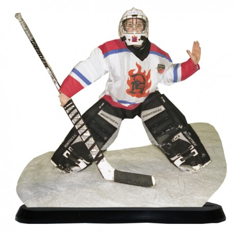 Statuette photo 3D - 15X20cm - Photo de sportif